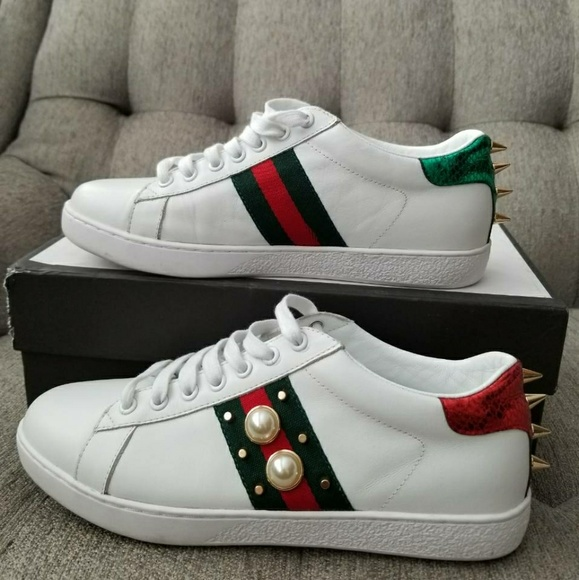 Gucci Shoes - Gucci Ace Studded Leather Sneaker